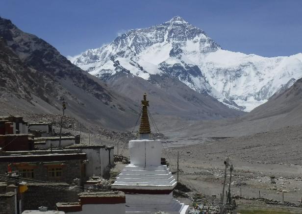 中国、チベットからヒマラヤ山脈...